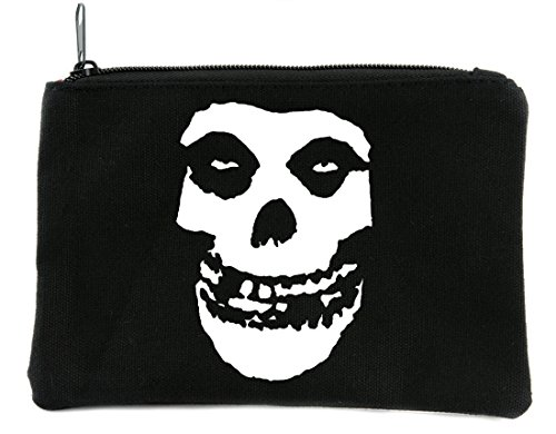 Psychobilly Deathrock Misfits Skull Cosmetic Makeup Bag Alternative Accessories -