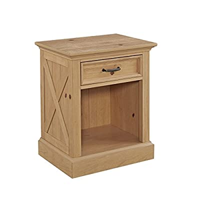 "Country Lodge Pine Night Stand by Home Styles - Constructed of Pine Single 3 ¼"" deep drawer, with lower open storage area. Assembly required - nightstands, bedroom-furniture, bedroom - 41YUcE9rESL. SS400  -"