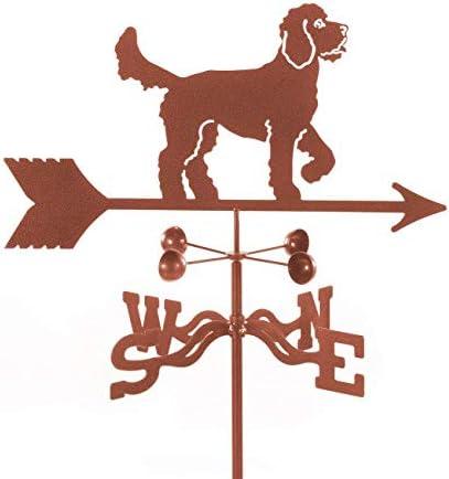 EZ Vane Golden Doodle Weathervane 14 Gauge Steel Sealed Ball Bearings Home or Garden Post Mount