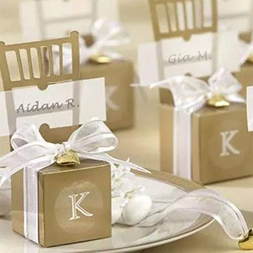 MEIZOKEN Birthday Guests Favors Chair Shape Wedding Candy Box Gift Favour Boxes Gold Silver Event Party Supplies Baby Full Moon
