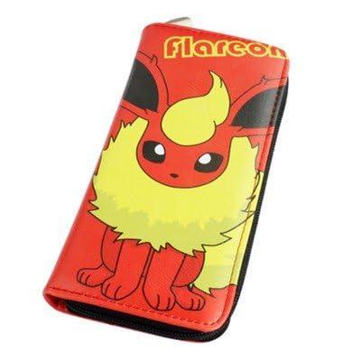 8f32d32662de Portefeuille Homme Femme Maroquinerie Cuir Porte Monnaie Sac Sacoche Manga  Cosplay Pokemon Go Bag Pikachu rouge Argent liquide Organisateur