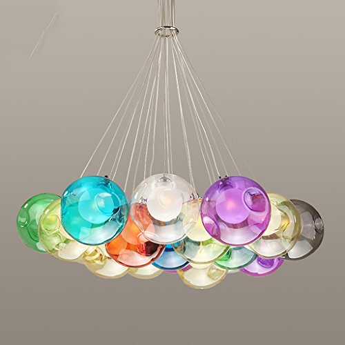 Coloured Glass Ball Pendant Lights