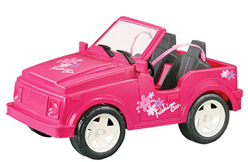 Pink Convertible Car Sport Utility Vehicle for Dolls (Great for Barbie)