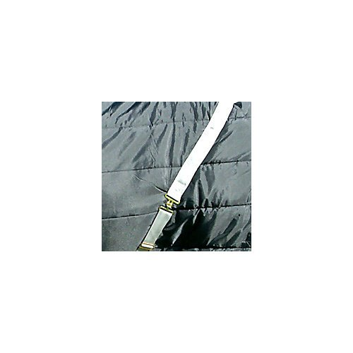 High Spirit Snuggie Quilted Hood, Large, Black/Silver