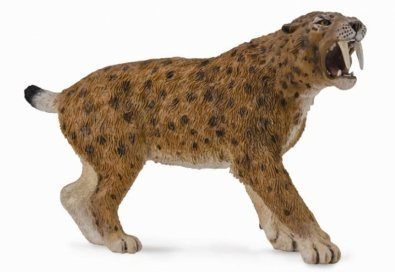 Saber Toothed Tiger (CollectA Prehistoric Life Smilodon Toy Dinosaur Figure - Authentic Hand Painted & Paleontologist Approved Model)
