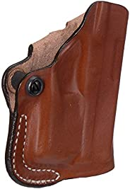 Desantis Mini Fits Glock 43 with Stream Light TLR6 Leather Right Hand Scabbard Belt Holster