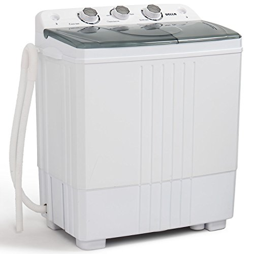 DELLA Small Compact Portable Washing Machine Washer 11lbs Capacity Top Load Laundry with Spin Dryer