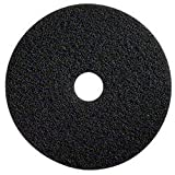 Glit 20014 TK Polyester Blend Black Stripping Floor Pad, Synthetic Blend Resin, Minerals Grit, 20'' Diameter, 175 to 350 rpm (Case of 5)