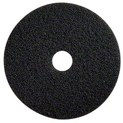 "Glit 20014 TK Polyester Blend Black Stripping Floor Pad, Synthetic Blend Resin, Minerals Grit, 20"" Diameter, 175 to 350 RPM (Case of 5)"