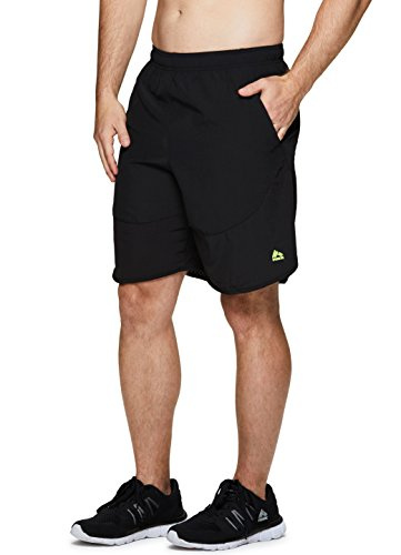 RBX Active Men's Running Yoga Athletic Shorts with Inner Bike Short Black S