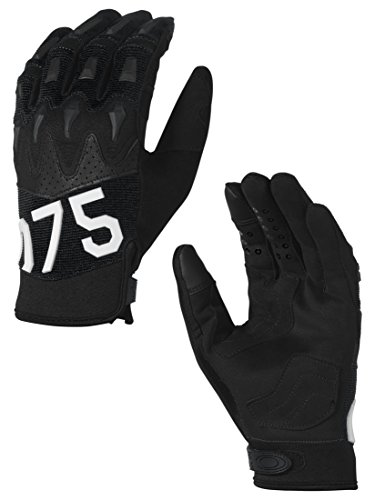 Oakley Mens Overload 2.0 Gloves Medium Jet - Oakley 4 1 2