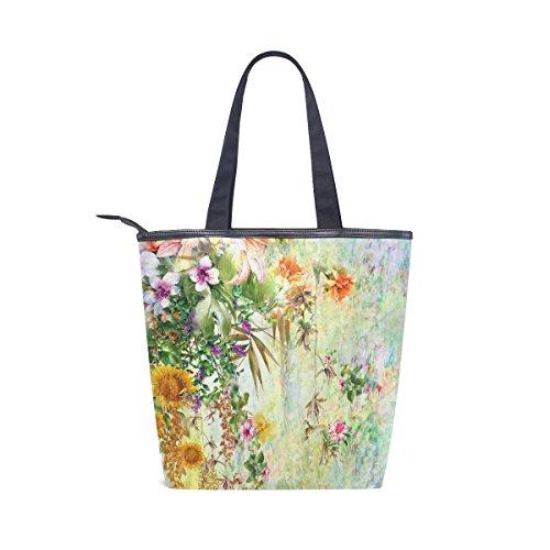 Acuarela Mydaily Las De Primavera Bolso Mujeres Flor Hombro De Bolsas De Florales Lona De xPPIrwq