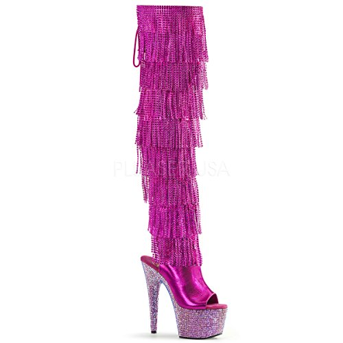 big sale online Pleaser Women's Synthetic Bejeweled Boots Fuchsia Metallic Pu-gold/Fuchsia Multi Rs visa payment exclusive deals for sale clearance shop offer pdq5w