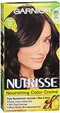 Garnier Nutrisse Haircolor, Soft Black 1 ea (Pack of 6)