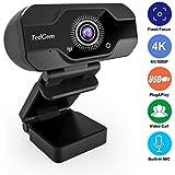 HD Pro Webcam, TedGem 8MP Fixed Focus 4K/1080P Full HD Webcam USB Webcam Desktop Laptop Camera Live Streaming Webcam…
