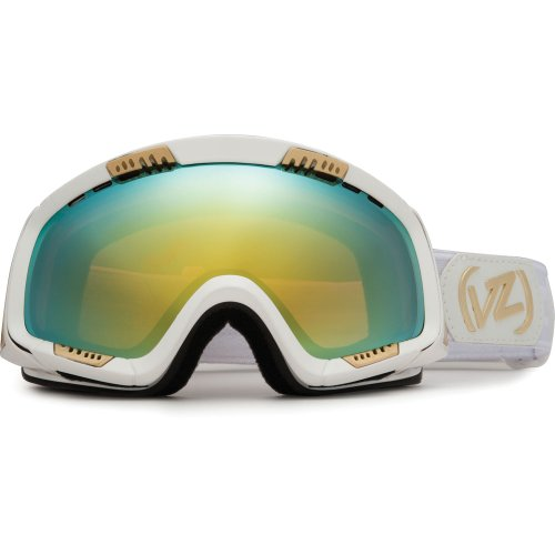 VonZipper Feenom Snow Goggle,White Gloss Frame/Gold Chrome Lens,One Size