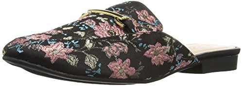 Qupid Damen Regent-02 Loafer Flat Schwarz Blush Multi