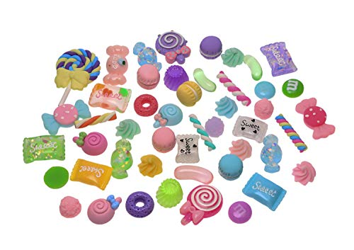 - Penta Angel Slime Charms Cute Set 50Pcs Assorted Candy Sweets Flatback Resin Slime Beads Making Supplies for Kids Adults Ornaments Scrapbooking Easter DIY Crafts