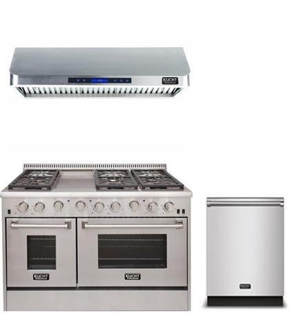 Kucht 3-Piece Kitchen Package with KRG4804U 48