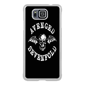 Great Quality Samsung Galaxy Alpha Case ,avenged sevenfold death bat White Samsung Galaxy Alpha Cover Case Hot Sale Phone Case Unique And Beatiful Designed