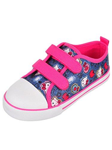 Hello Kitty Girls' Sneakers - Denim Blue, 9 Toddler (Hello Kitty Sneakers For Girls)