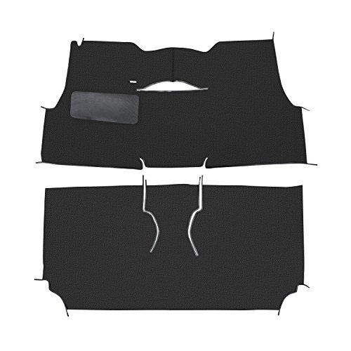 Trim Parts 55111-7151 Black Full Size Daytona Weave Original Style Cut and Sewn Carpet for Chevrolet 2-Door - Carpet Daytona