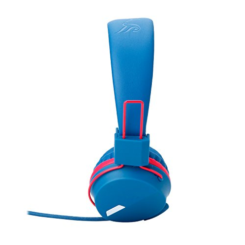 Yomuse F85 On Ear Foldable Headphones with Microphone for Kids Teens Adults, Smartphones iPhone iPod iPad Laptop Tablets Mp3/4 Blue Red by Yomuse (Image #3)