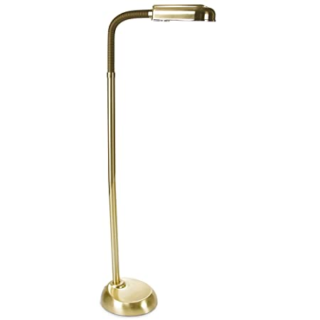 Modem floor lamp standing daylight reading light with 27 watt low modem floor lamp standing daylight reading light with 27 watt low energy bulb brass mozeypictures Gallery