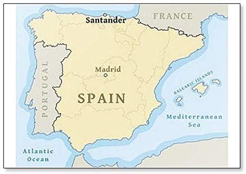 Imán para nevera con mapa de Santander en España: Amazon.es: Hogar