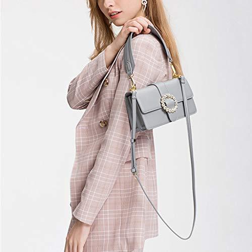 Hombro Pu Diagonal D Nueva Pequeño Cruz De Cuadrado Mujer Bolso La Handbag a Personalidad Salvaje Rq0wFgBnax