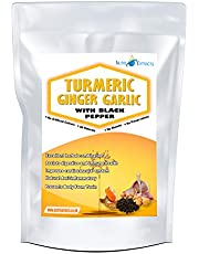 Turmeric Ginger and Garlic Capsules with Black Pepper Pills | High Strength Food Supplement High Strength Anti-Inflammatory Digestive Vegetarian & Vegans by NutriExtracts