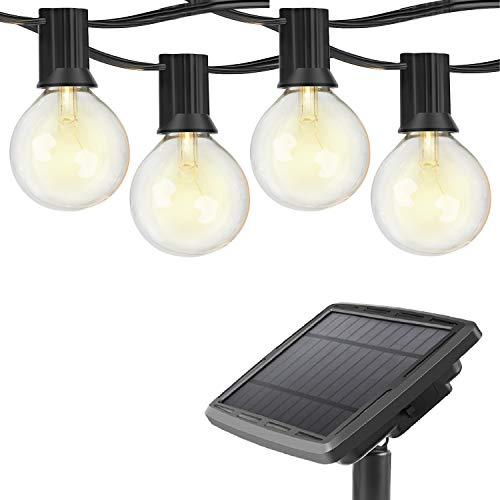Outdoor Bistro Solar Powered Globe String Lights: WIXANN Solar Powered LED Outdoor String Lights, Hanging