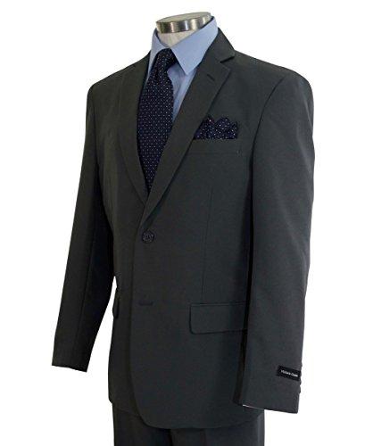 Victorio Couture Men's 2 Button Classic-Fit Poplin Polyester Suit [Color: Gray | Size: 40 Regular / 34 Waist] (Regular Fit Suit)