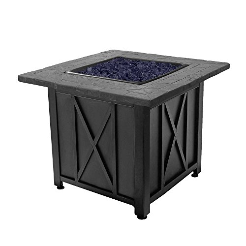Endless Summer Blue Rhino Outdoor Propane Gas Blue Lava Rock Patio Fire Pit