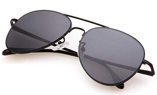 PUKCLAR Mens Womens Aviator Mirrored Lens Polarized sunglasses Metal Frame UV400 Protection pk2000 - Sunglases Aviator