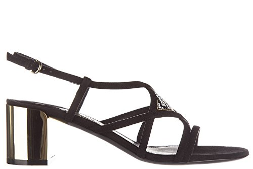 nuevo mujer ante tacón Salvatore emmy sandalias Ferragamo en negro de wqWI0HP
