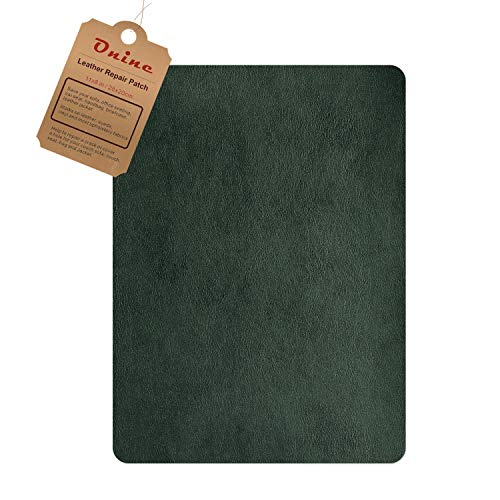 Leather Repair Patch,Self-Adhesive Couch Patch,Multicolor Available Anti Scratch Leather 8X11 Inch Peel and Stick for Sofas, car Seats Hand Bags Jackets - Leather Green Sofa