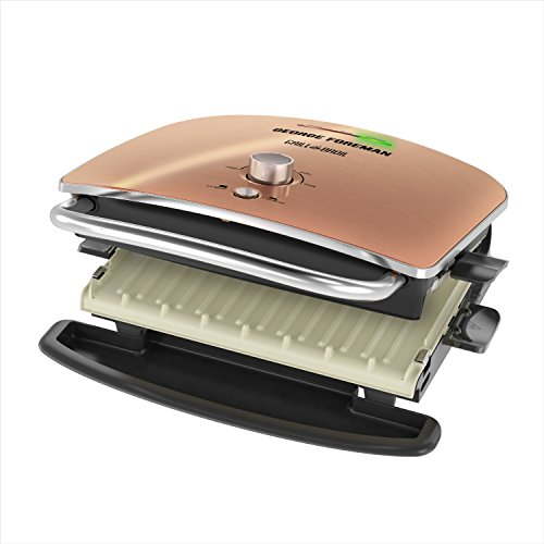 George Foreman Grill & Broil, 4-in-1 Electric Indoor Grill, Broiler, Panini Press, and Top Melter, Copper, GRBV5130CUX by George Foreman (Image #7)