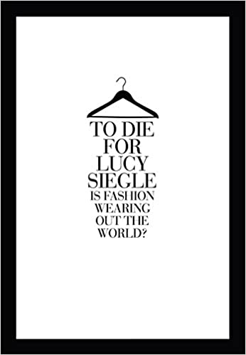 to die for is fashion wearing out the world lucy siegle