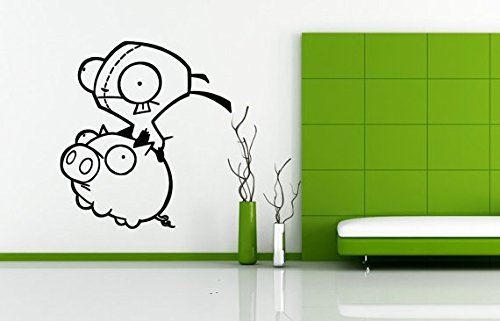 Used, Zim the Invader gir riding Piggy Cartoon Decor Wall for sale  Delivered anywhere in Canada