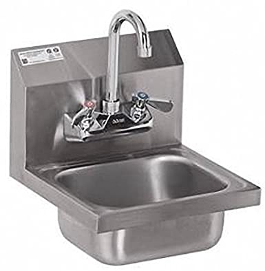 Amazon Com Stainless Steel Hand Sink Nsf Commercial Equipment 12 X 12 Industrial Scientific