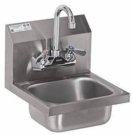 Stainless Steel Hand Sink - NSF - Commercial Equipment 12'' X 12'' by L&J Import