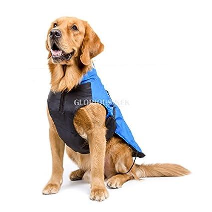 Perro Ropa para Perros Grandes Invierno impermeable perro Lluvia abrigo Chaquetas transpirable Outdoor para grossen perro con forro polar Forro 5 x l: ...