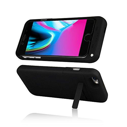 Indigi® Ultra fin Smart Charge batterie externe Coque batterie pour iPhone 8Plus–Noir Mat–�?000mAh