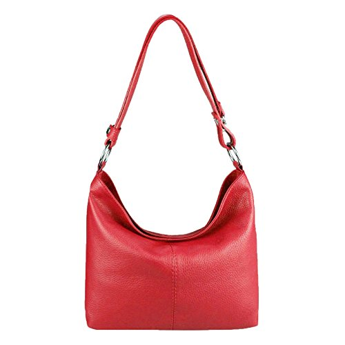 Made Italy - Leather Shoulder Bag 28x24x14 Cm Women (bxhxt), Yellow Color, Size 28x24x14 Cm (bxhxt) Red