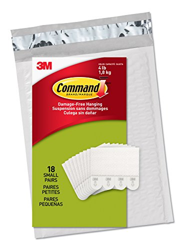 : Command PH202-18NA Small Picture Hanging Strips White, 18 Pairs