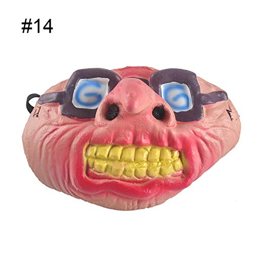 Scary Horror Mask Party Halloween Fool's Day Clown Latex Sexy Cosplay Costume Half Face Masquerade Masks Men Women,14 ()