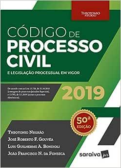 Código de processo civil e legislação processual em vigor - 50ª edição de 2019