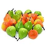 DLUcraft-Artificial-Pear-Lifelike-Simulation-Fake-Fruit-Home-Decoration-10-Orange-10-Green-20-Pcs