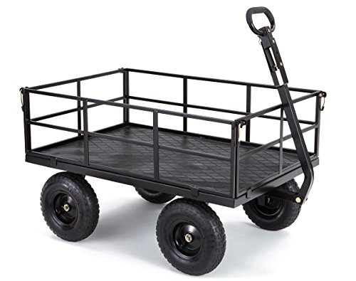 Gorilla Carts GOR1200-COM Heavy-Duty Steel Utility Cart with Removable Sides and 13